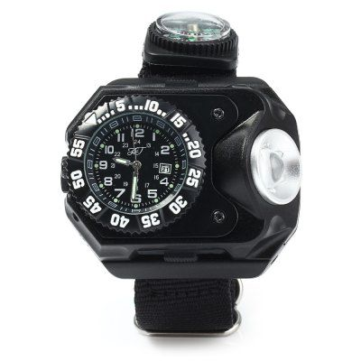 $18.12 (Buy here: http://appdeal.ru/c972 ) HT-8118 Flashlight Quartz Watch SOS Compass Date Function for just $18.12