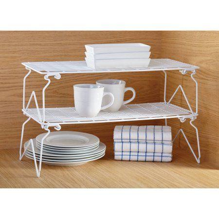 Mainstays Long Stacking Wire Shelf, White | Kitchen | Pinterest ...