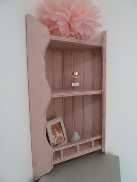 x Sold x £55.00  - A lovely Corner Shelf Unit painted with Annie Sloan's 'Antoinette' by BLEU CLAIR