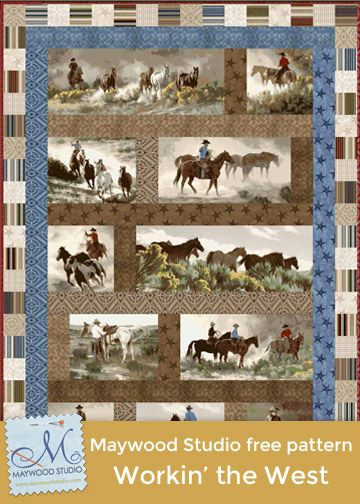 Workin' the West free pattern by Debbie Beaves for Maywood Studio ... : debbie beaves quilt patterns - Adamdwight.com