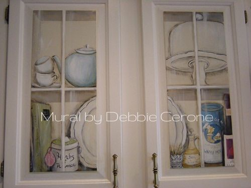 Kitchen Cabinet Painting Idea Trompe L Oeil Cabinet Fronts Www