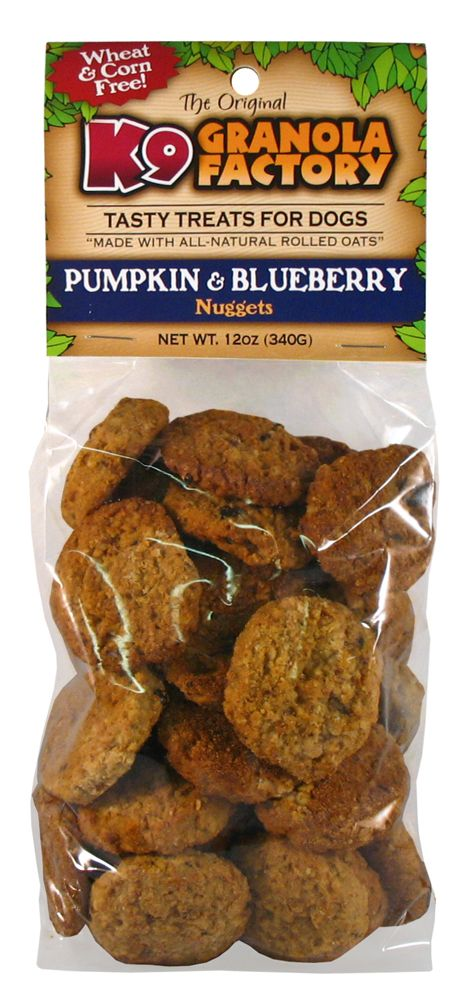 Pumpkin Blueberry Nugget 12 Oz Bag Dog Food Recipes Granola