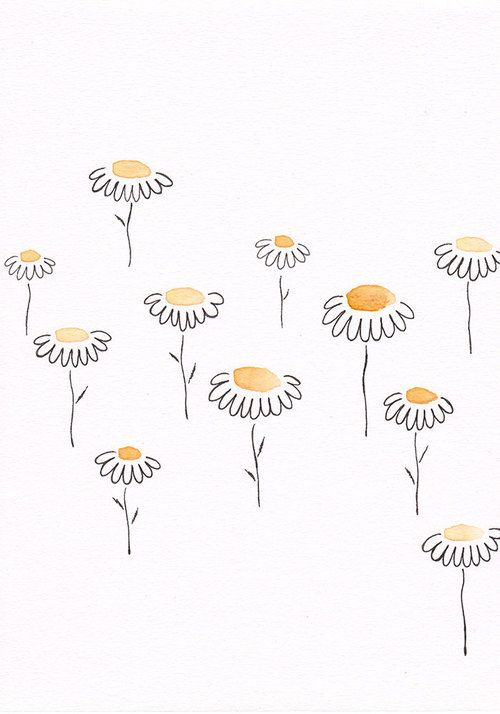 daisy and flowers image | aroha | Drawings, Bullet Journal, Doodle