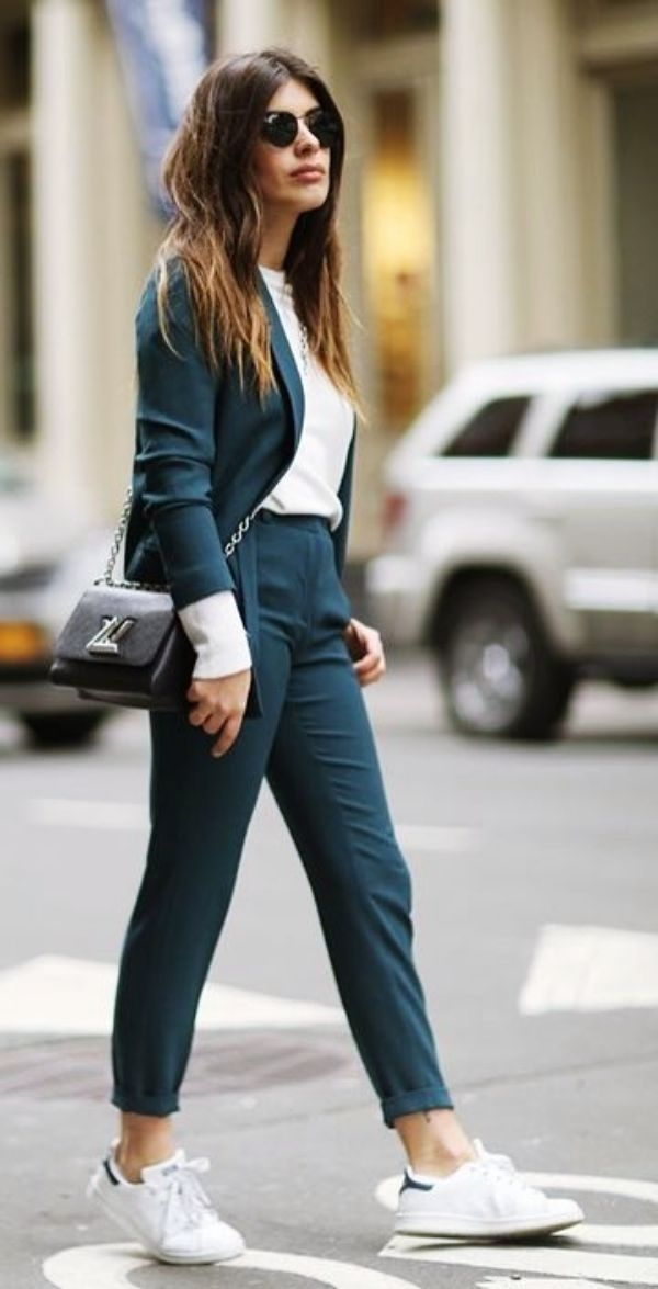 34 Best Work Outfits Ideas With Sneakers – VIs-Wed