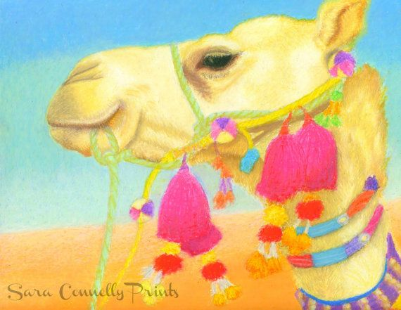 8x10 Camel Art Print with Mat by SaraConnellyPrints on Etsy, $28.00