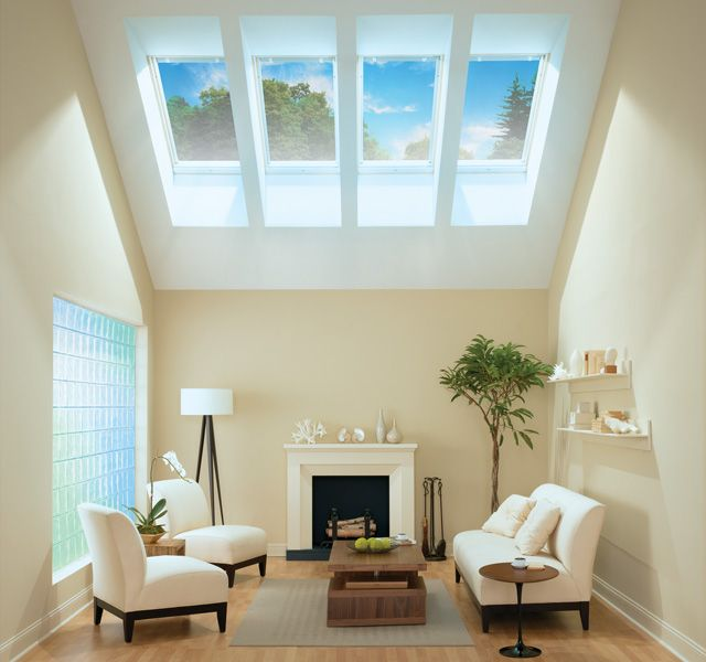 Nice Living Room With VELUX Fixed Skylights Available At AlliedBuilding.com