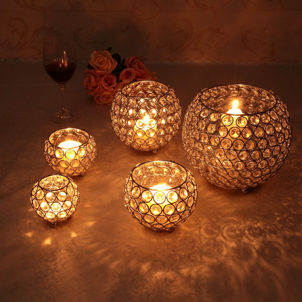 Gold Votive Candle Holders Wedding Centerpieces Crystal Bowl ...