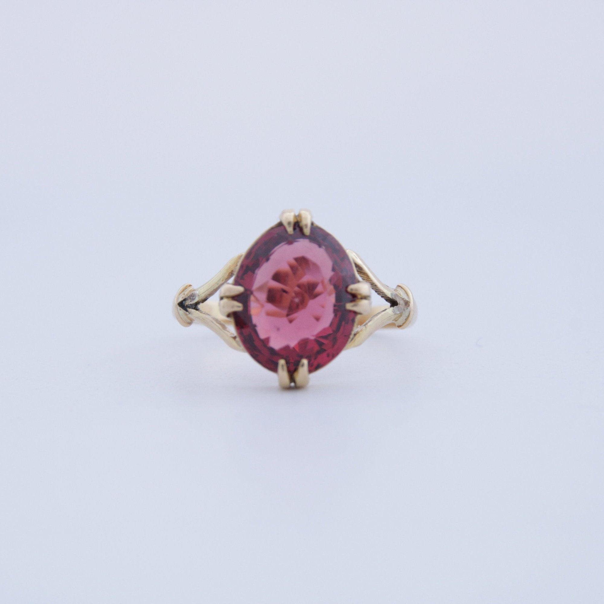 Gift For Her,V valentine gift,Mother day Gift All sizes. Natural Rhodolite Garnet 925 Sterling silver Engagement ring