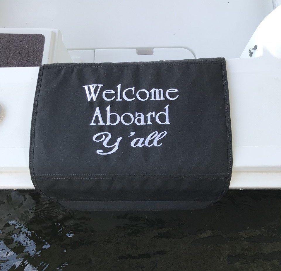 Sunbrella gunwale boat mat aboard yall mat