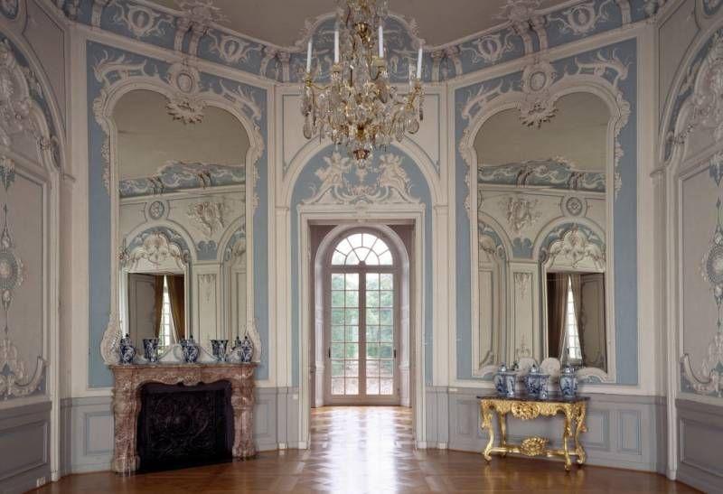 schloss falkenlust oberer salon br hl germany 18th century rococo german roccoco. Black Bedroom Furniture Sets. Home Design Ideas