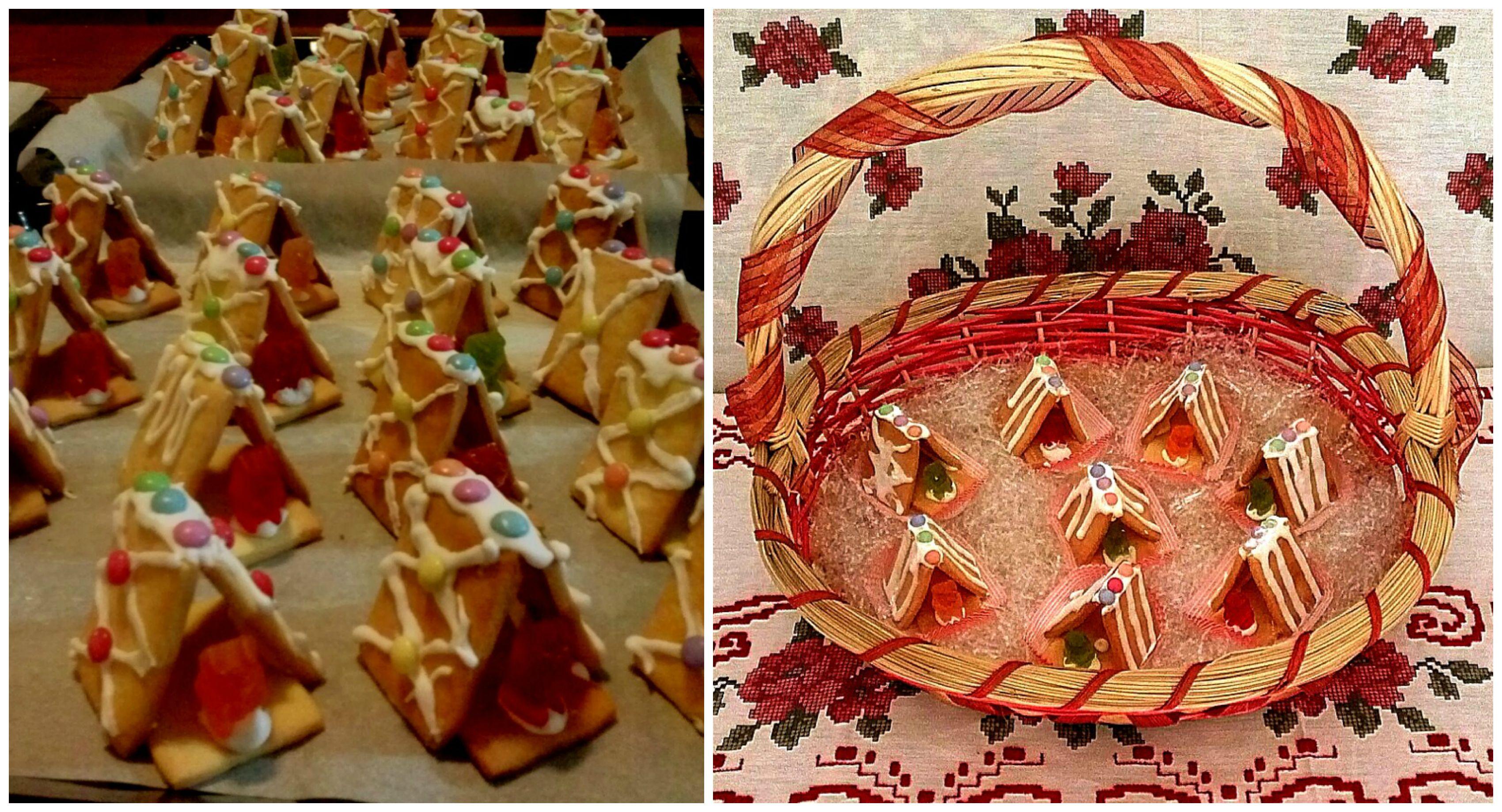 Shortbread Christmas Cookies (mini christmas houses)