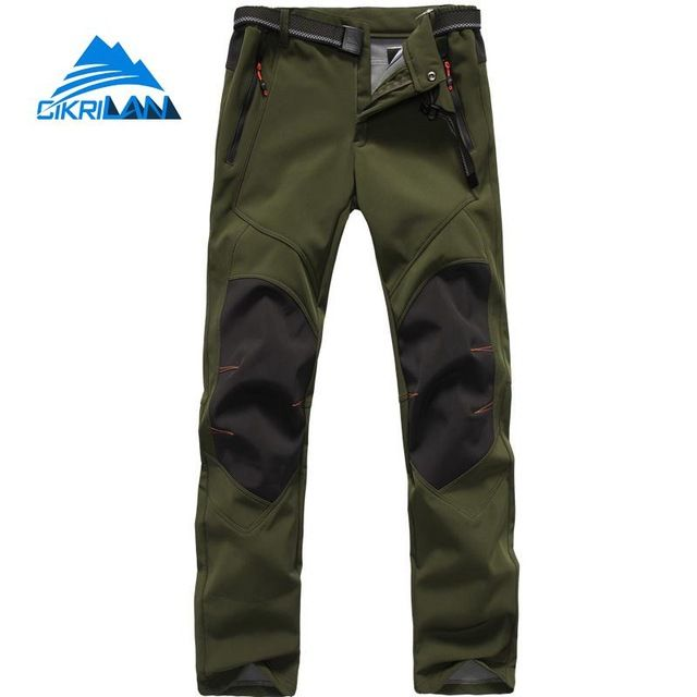 2019 Men Outdoor Soft shell Waterproof Pants Winter Skiing