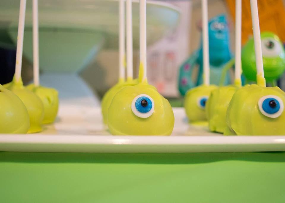 Monsters Inc Cake Pops birthday Mya Pinterest Cake pop