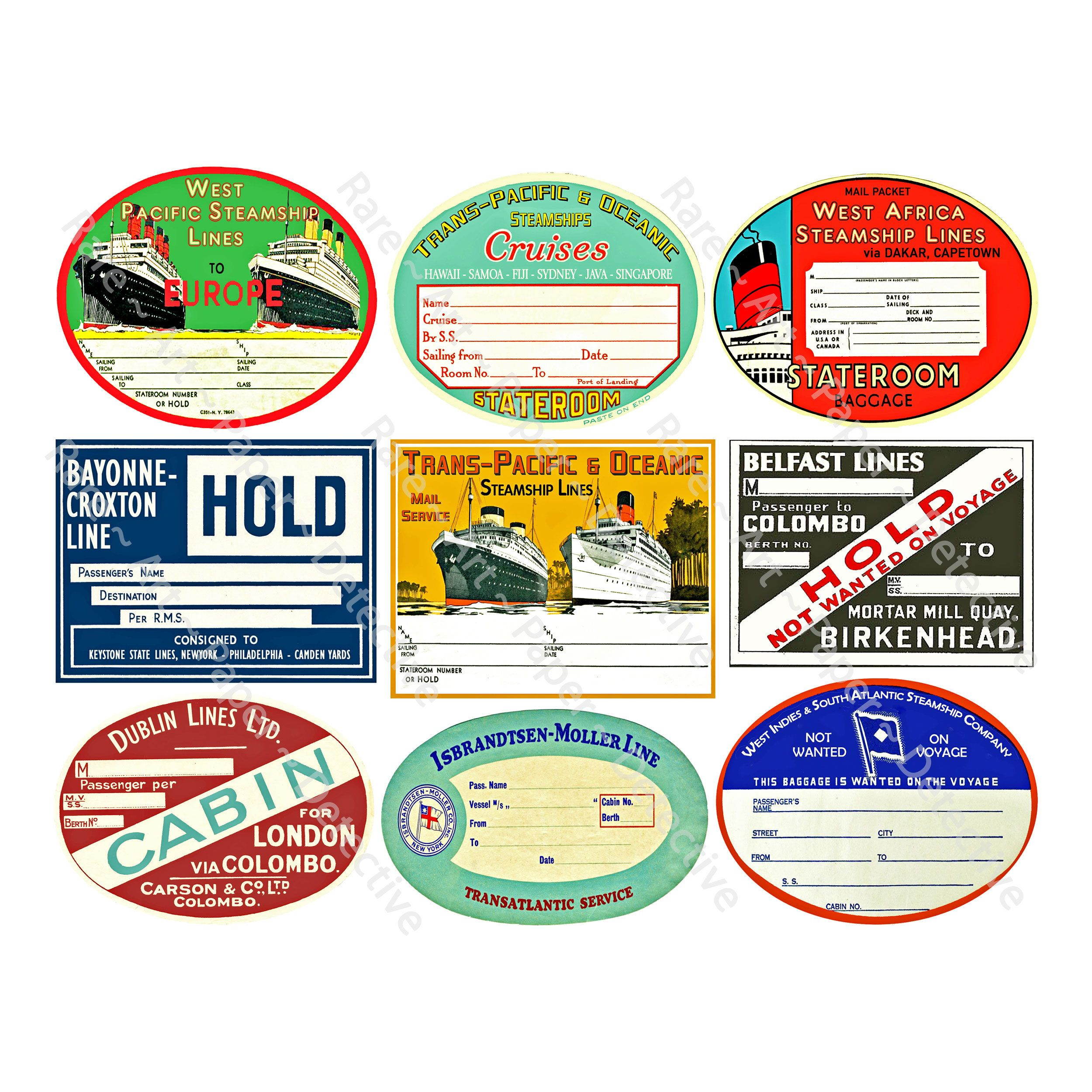 Pin On Steamer Trunks Stickers For Travel Journals [ 2500 x 2500 Pixel ]