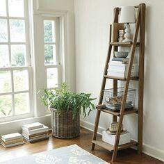Wooden Shelf Ladder