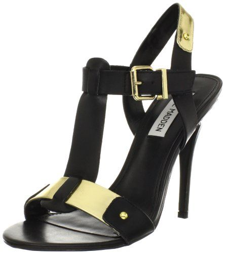 Steve Madden Womens Reya Pump,Black Leather,7 M US - Panty Hoarder