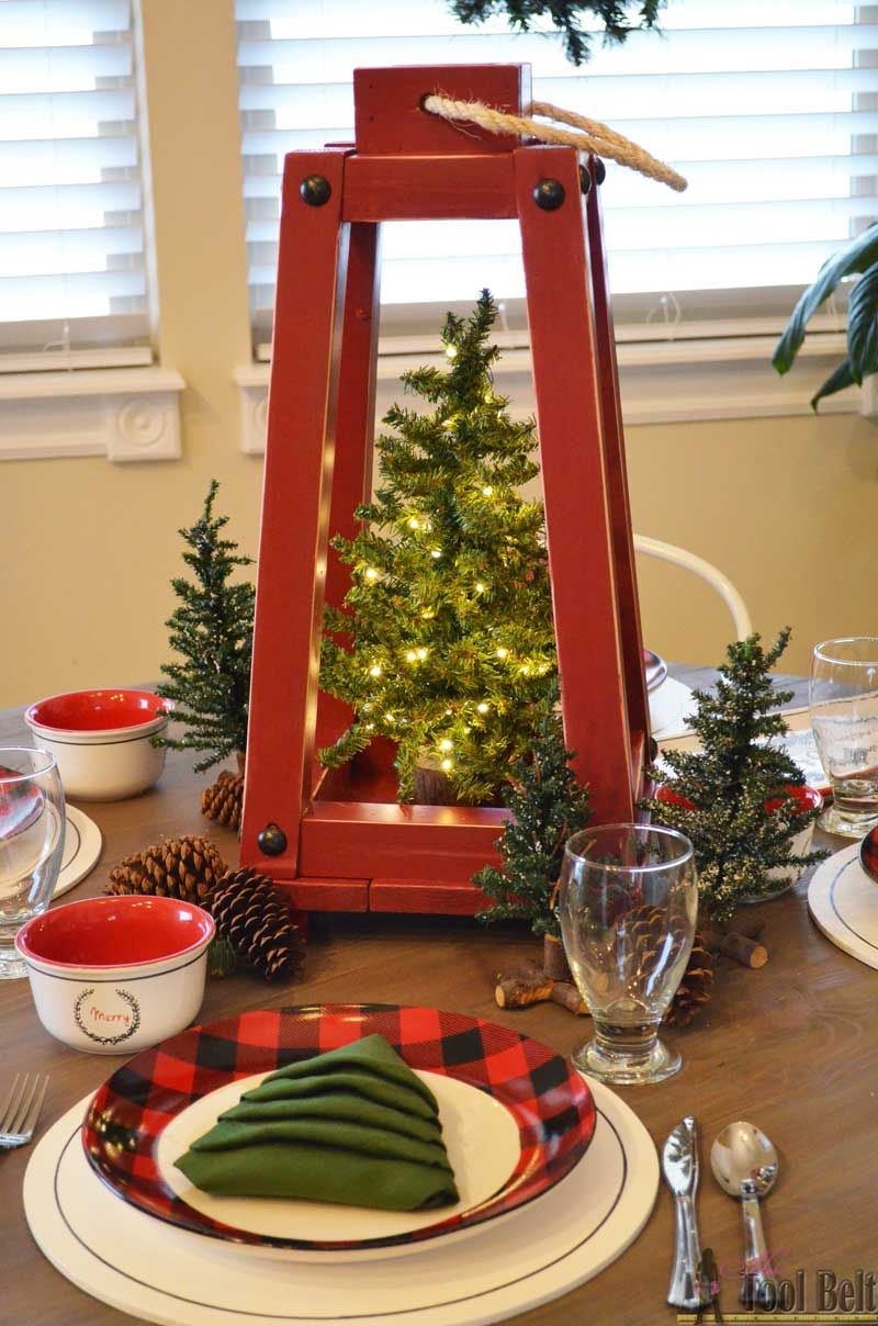 Buffalo check holiday tablescape holiday tablescape pine tree and