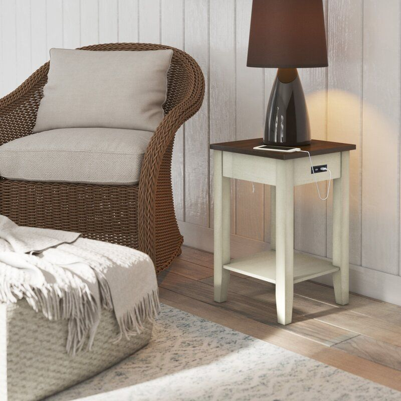 Darrell end table with storage in 2020 furniture end