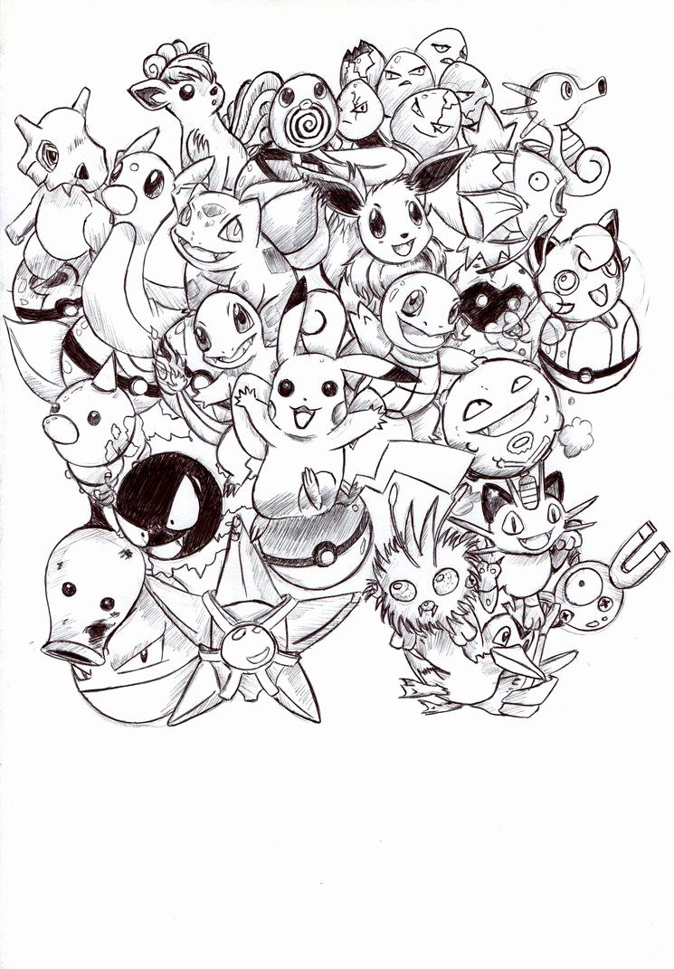 Kids Pokemon Coloring Pages First Generation Pikachu Coloring Page Pokemon Coloring Pokemon Coloring Pages