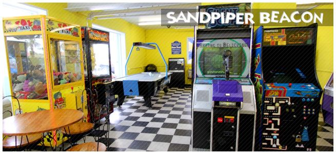 Air Conditioned Arcade Game Room At The Sandpiper Beacon Beach