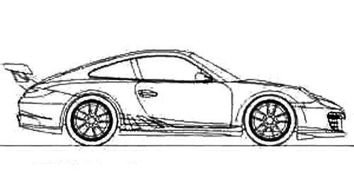 Race Car Sport Porsche Coloring