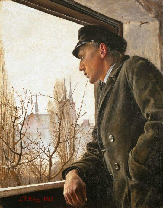 Laurits Anderson Ring, Ved vinduet. Ole ring, Ordrupgaard (1925)