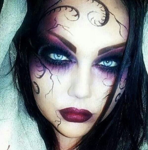 Halloween Witch Make Up Ideas Face Eyes
