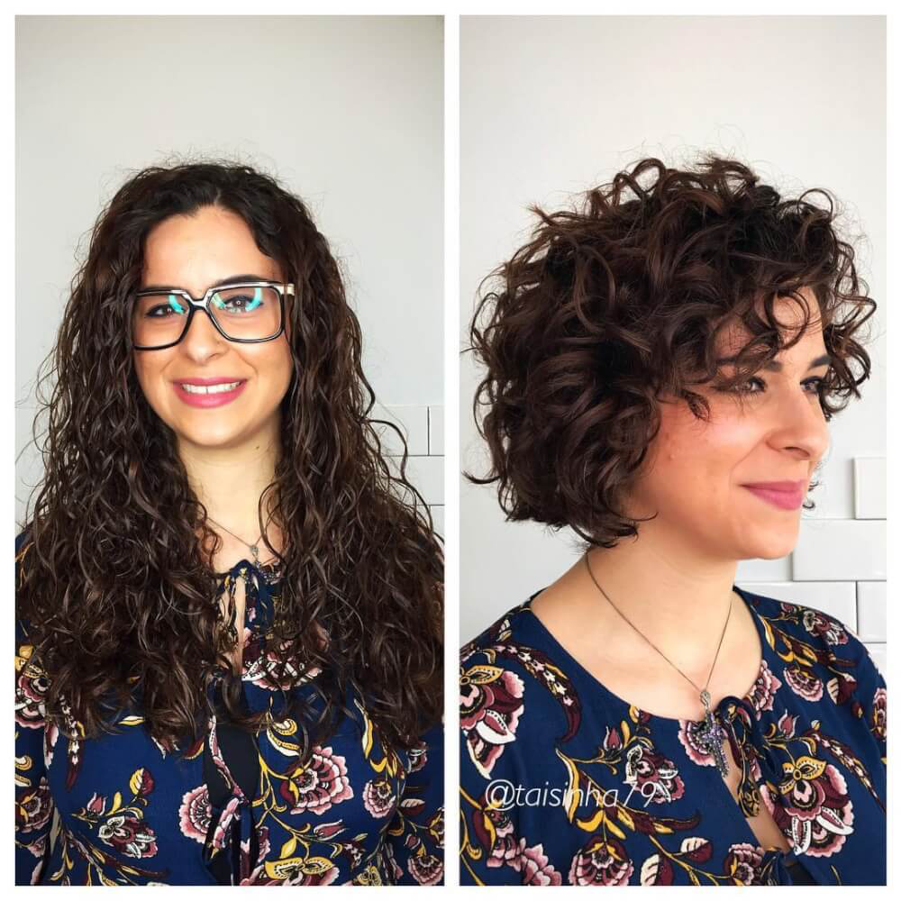 29 Most Flattering Short Curly Hairstyles To Perfectly Shape Your Curls Haircuts For Curly Hair Curly Bob Hairstyles Curly Hair Styles