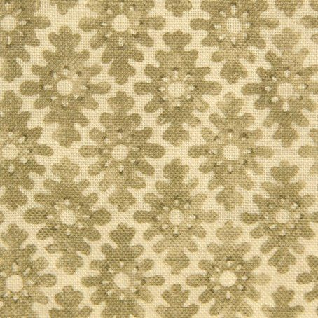 Ashfield Fabric A linen fabric with a woodblock style print of small diamond motifs, printed in wheat on a natural ground.