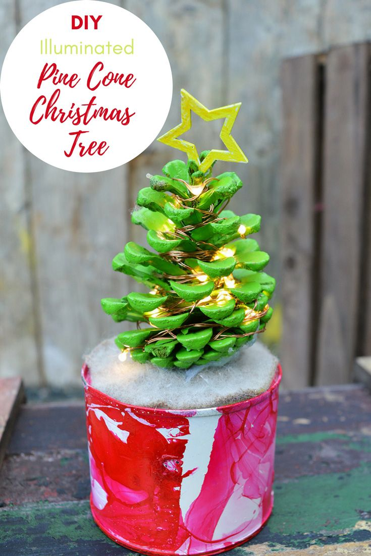how to make pine cone christmas tree with lights pillar box blue