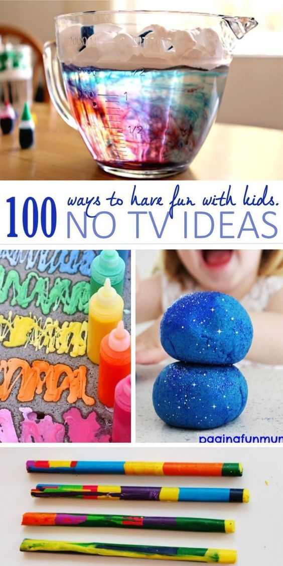 100 Awesome TV Free Activities For Kids