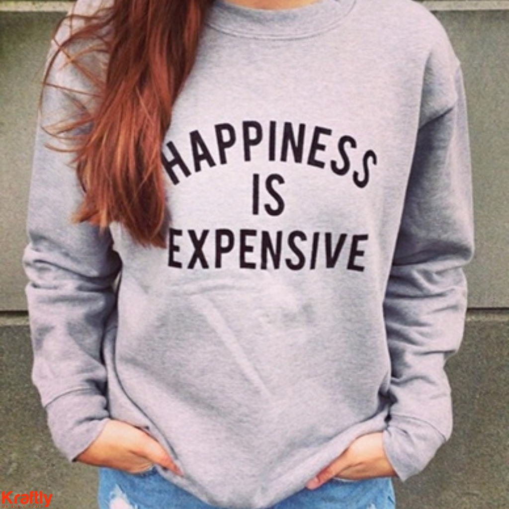 Let style be the reason behind your happiness, because its expensive #Kraftly