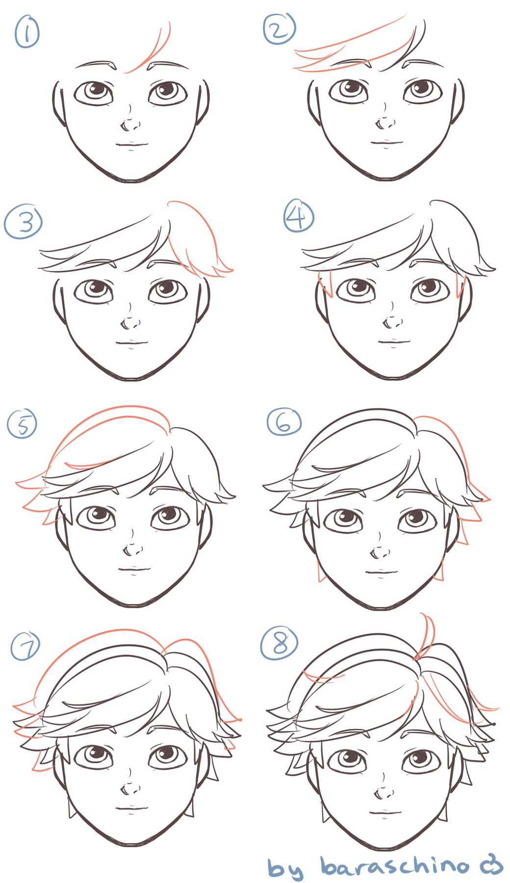 In Case People Wanna Draw Adrien S Hair Miraculous Ladybug