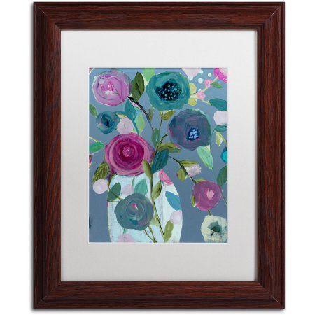 Trademark Fine Art Easy Joy Canvas Art by Carrie Schmitt, White Matte, Wood Frame, Multicolor