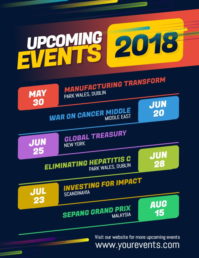 Modern Upcoming Event Calendar Posterflyer Template Design Event