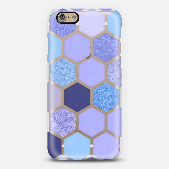 #hexagon #purple #pattern Phone Case | iPhone 5s | Casetify | Graphics | Painting | Transparent  | Micklyn Le Feuvre
