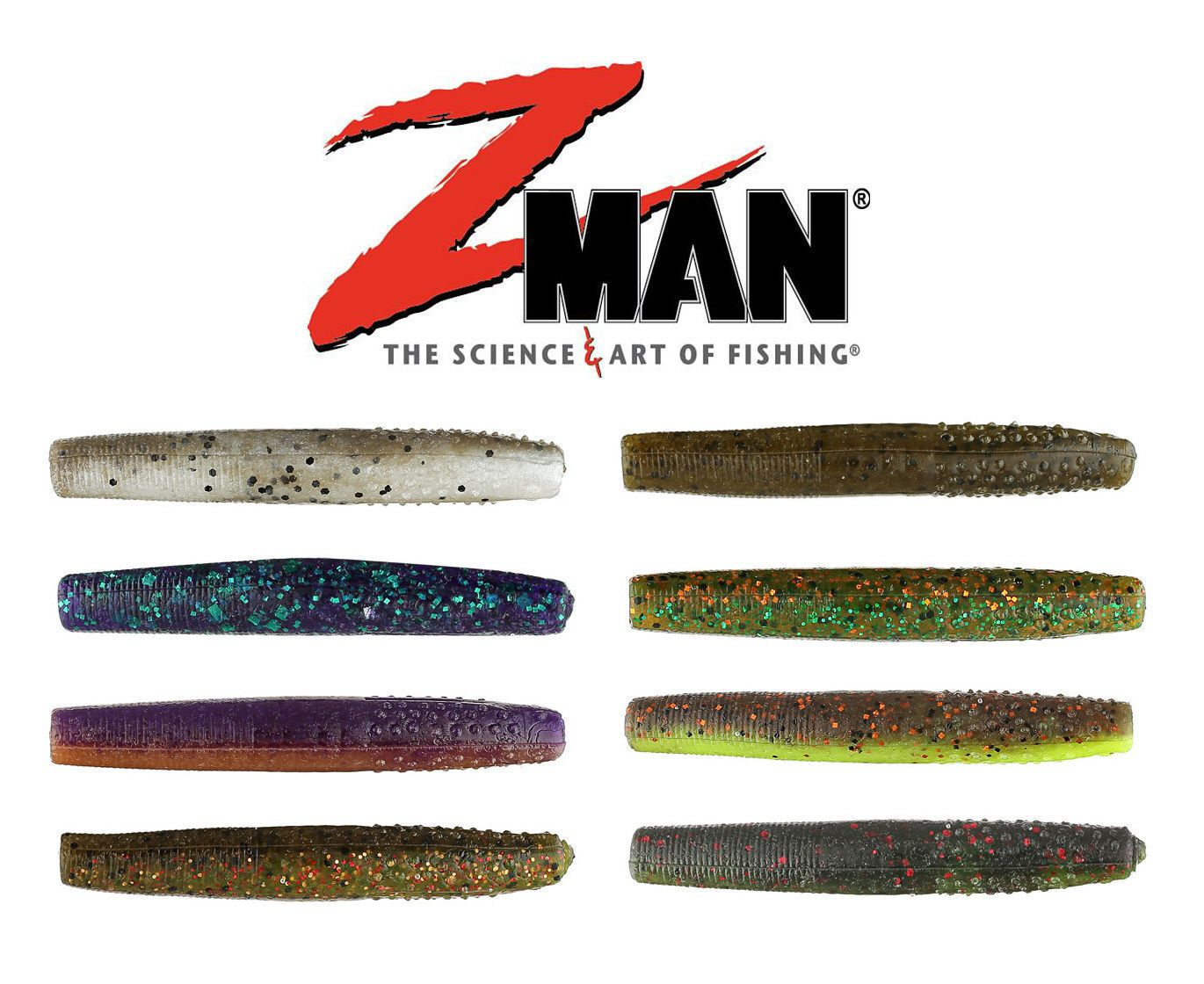 ZMAN FINESSE TRD (NED RIG) WORM, 23/4″, 8 PK, NEW