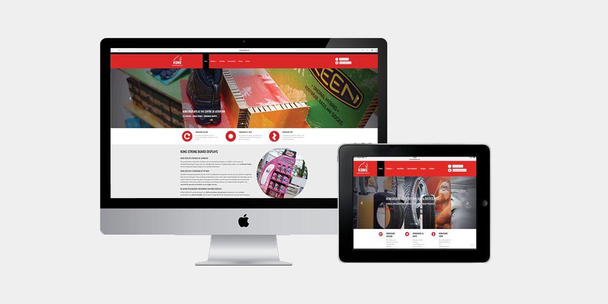 Kongdisplays - Website realisatie - Communicatie en reclamebureau 2design Roeselare - Grafisch ontwerp, webdesign en apps - Website