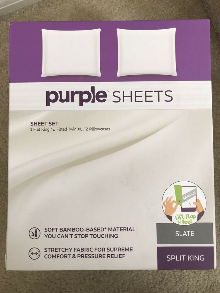 Purple Mattress Brand Bed The Purple Sheets Split King Size Set