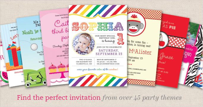Find the perfect party invitation over 45 party themes! Free printables