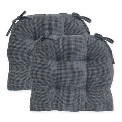Jordan Oversized Chair Pad In Grey Set Of 2