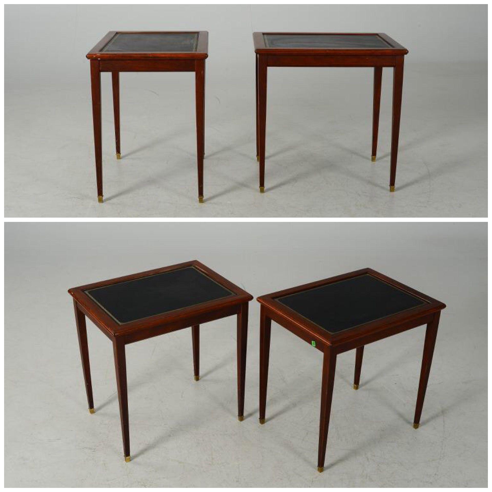 Продам два парных столика с кожей, винтаж 42 000 руб ...