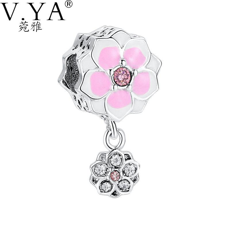 96ae3cd35 ... low cost v.ya lovely diy accessories charms fit for pandora bracelets  sweet beads daisy