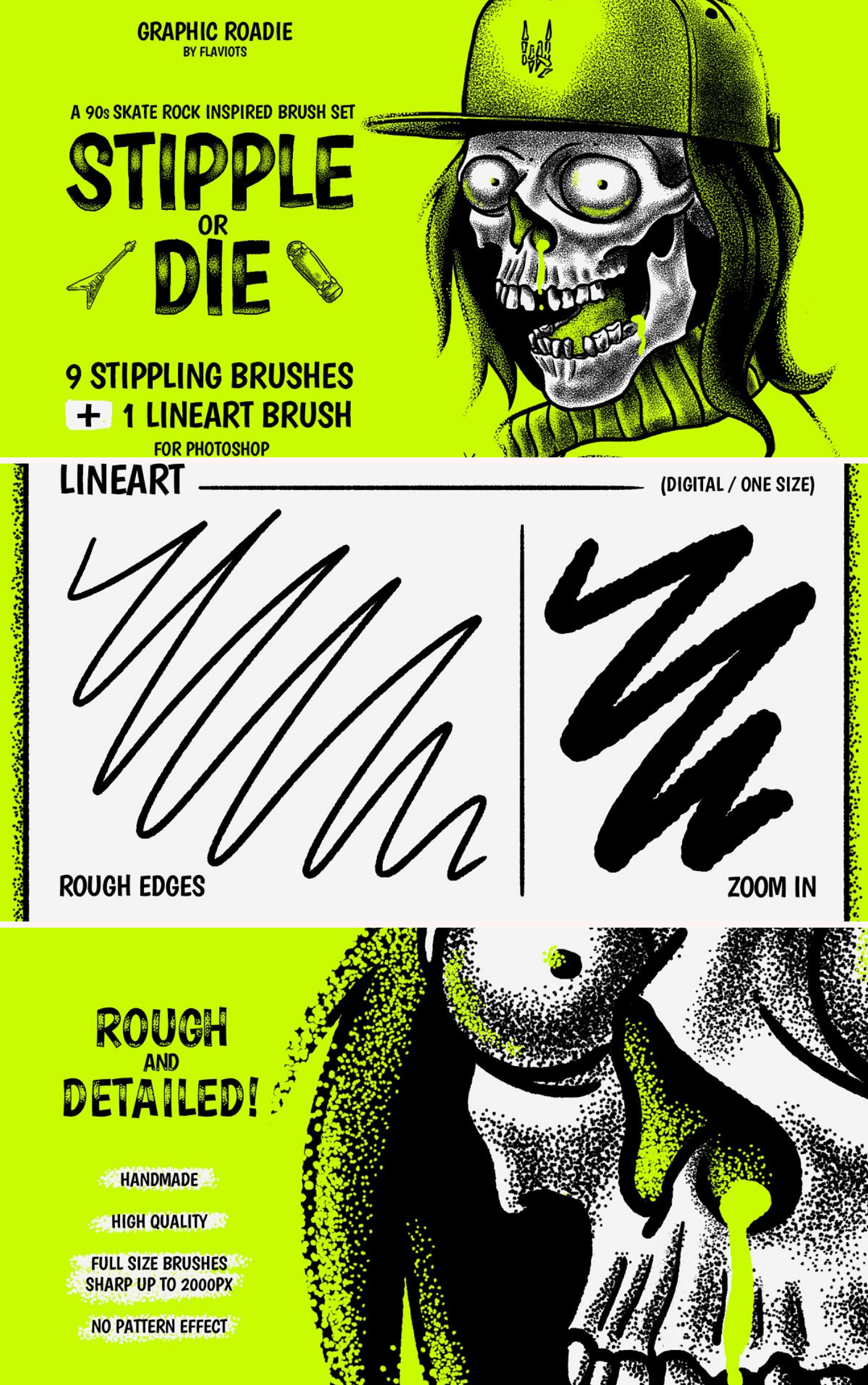 Stipple or Die brushes Stippling,