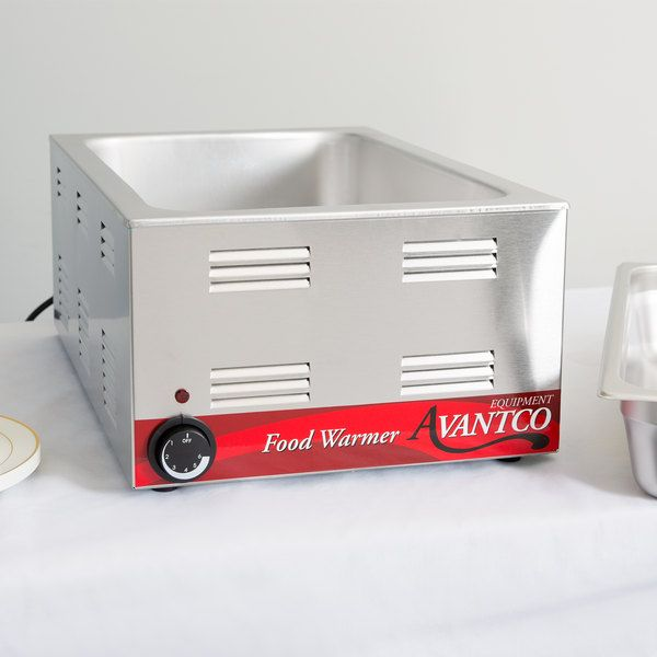 Avantco W50 12 X 20 Full Size Electric Countertop Food Warmer 120v 1200w Countertops Electric Foods Electric Warmer