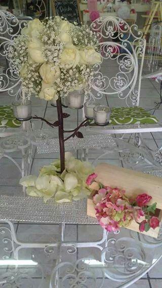 Centro candelabro de mesa