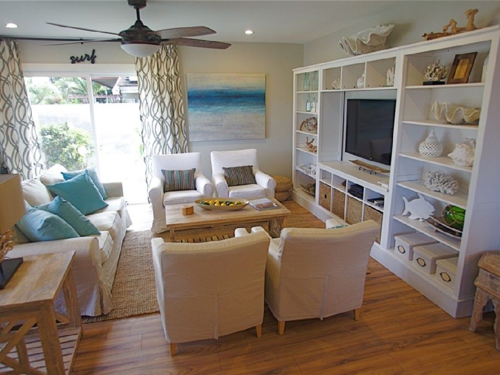 Beach themed living rooms google search home decor diy for Beach house living room ideas