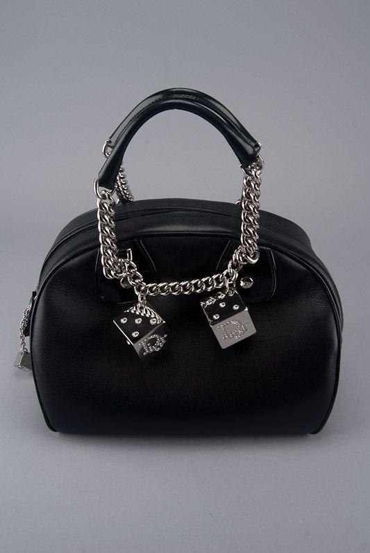 Christian Dior Black Leather Gambler Handbag Bags Purses Purses And Handbags