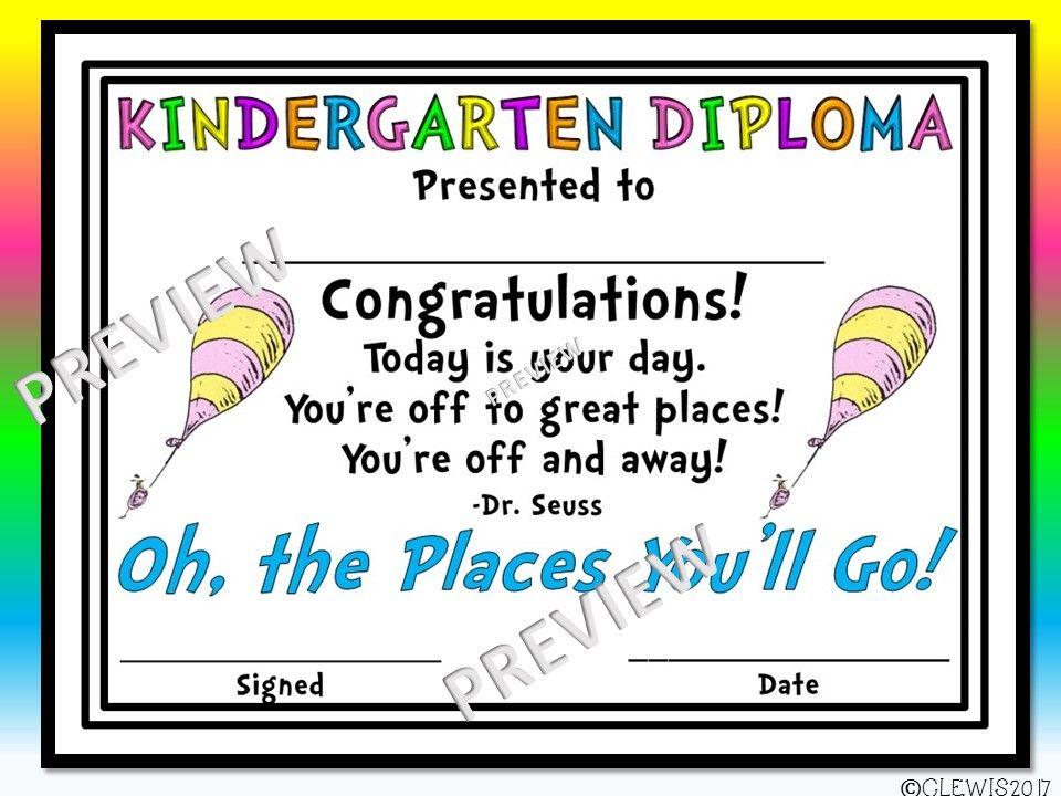 Oh, the Places Youu0027ll Go inspired kindergarten and preschool - graduation program