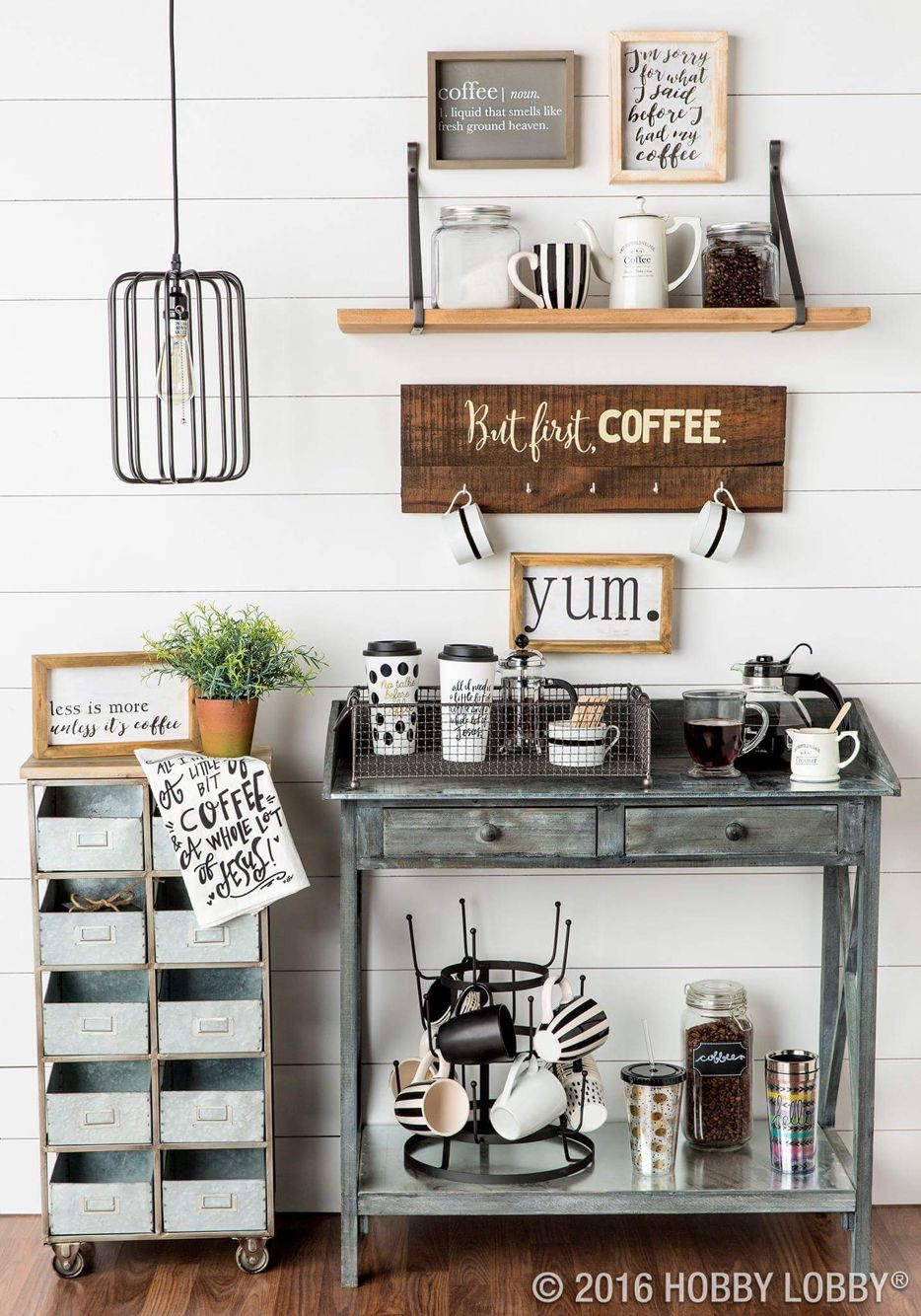 Love This Time To Go To Hobby Lobby Coffee Bar Home Home Coffee Stations Coffee Shop Decor